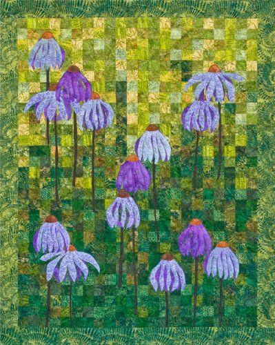 Coneflower Garden Quilt Pattern By 4th 6th Desgins Barbara Persing And Mary Hoover Garden Quilt Applique Quilt Patterns Applique Quilts