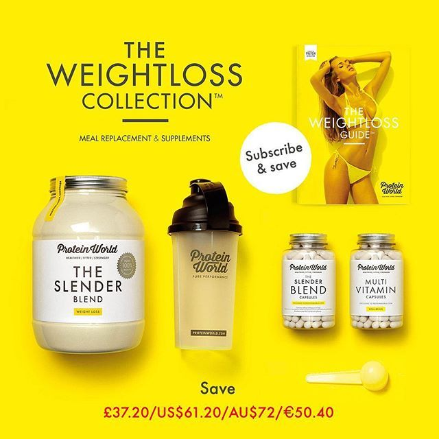 Save a huge 20% (£37.20/US$61.20/AU$72.00/€50.40) on The Weight Loss Collection when you subscribe to our 3 month plan! It's so easy to do! Visit our website for more info proteinworld.com #ProteinWorld #Motivation