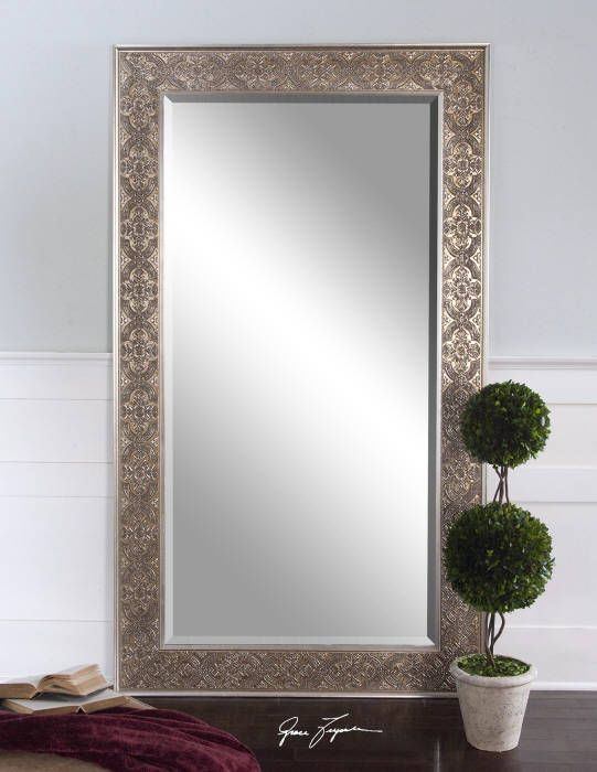 Large Silver Wall Mirror xl french silver lace mirror wall floor dressing large full length