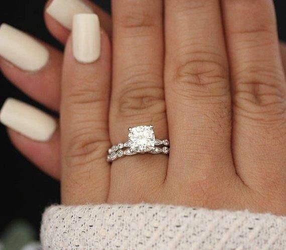 Fabulous Big Engagement Rings Bigengagementrings With Images White Gold Engagement Rings Cushion 14k White Gold Engagement Rings Engagement Ring White Gold