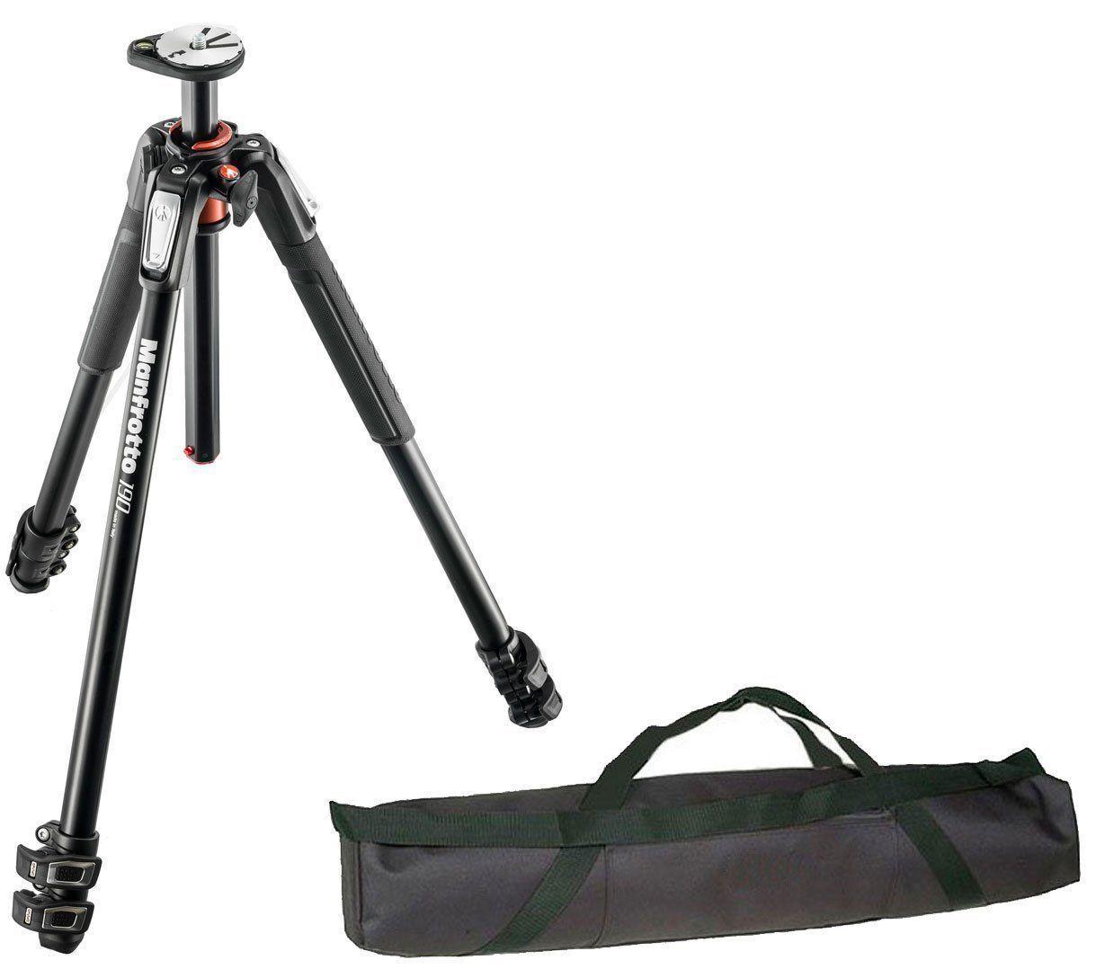 Manfrotto Mt190xpro3 3 Section Aluminum Tripod Legs W 35 Carrying Vanguard Veo 265cb Carbon Fiber Case