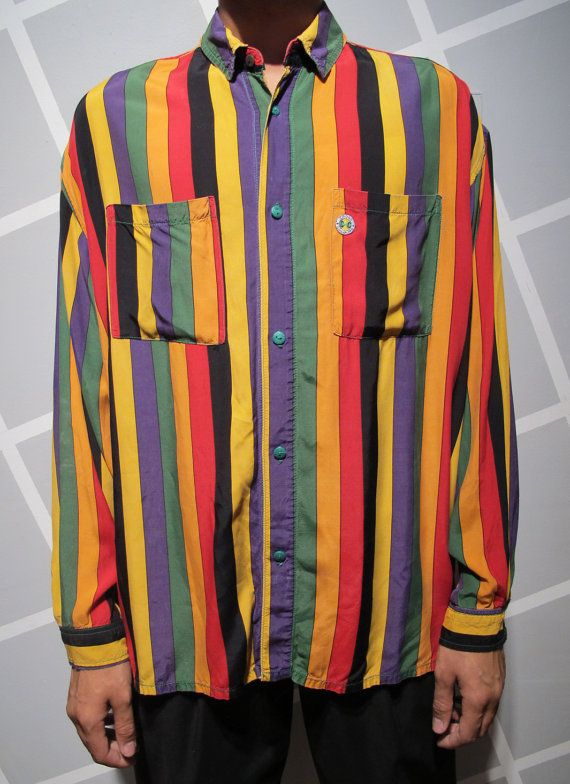 23b59a2bb18 Vintage 90s Cross Colours Button Up Rayon shirt by Kokorokoko ...