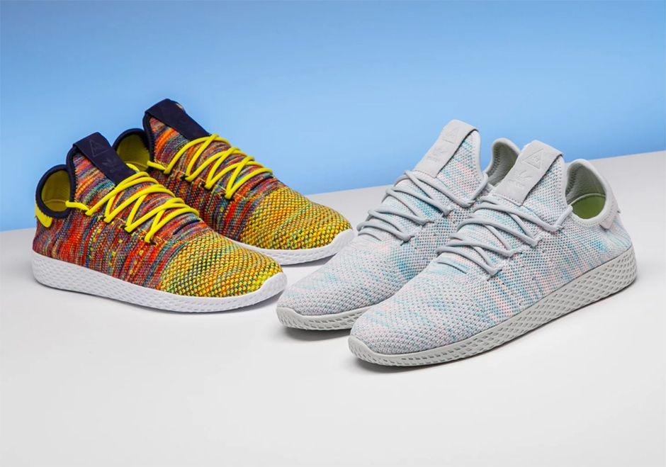 Pharrell Adidas Tennis Hu Multi Color Preview By Stadium Goods Sneakernews Com Adidas Tennis Adidas Sneakers