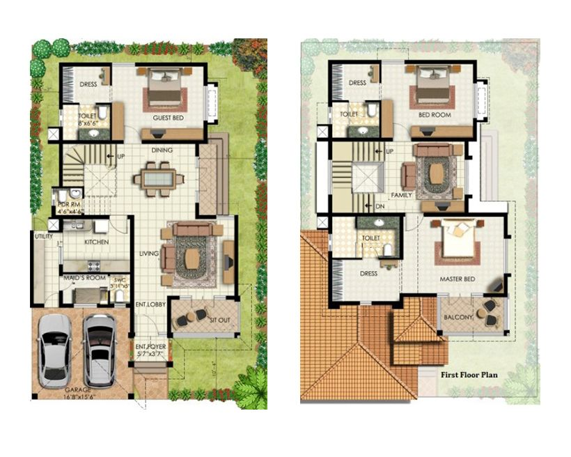 40 60 Feet House Map
