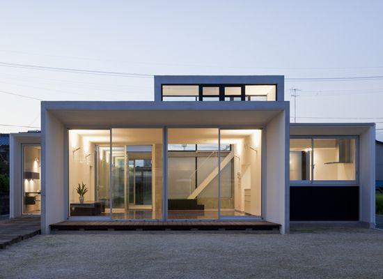 Minimalist House Design That Consist Of Small Rectangular