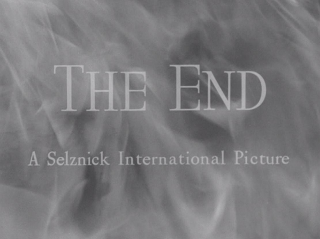 Rebecca • Directed by Alfred Hitchcock 1940 - THE END
