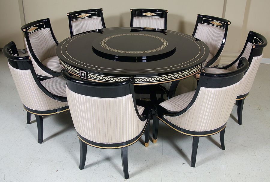 New Empire Style Dining Room Furniture Is Available In Both A Gloss Black Or Natural Wood Finish