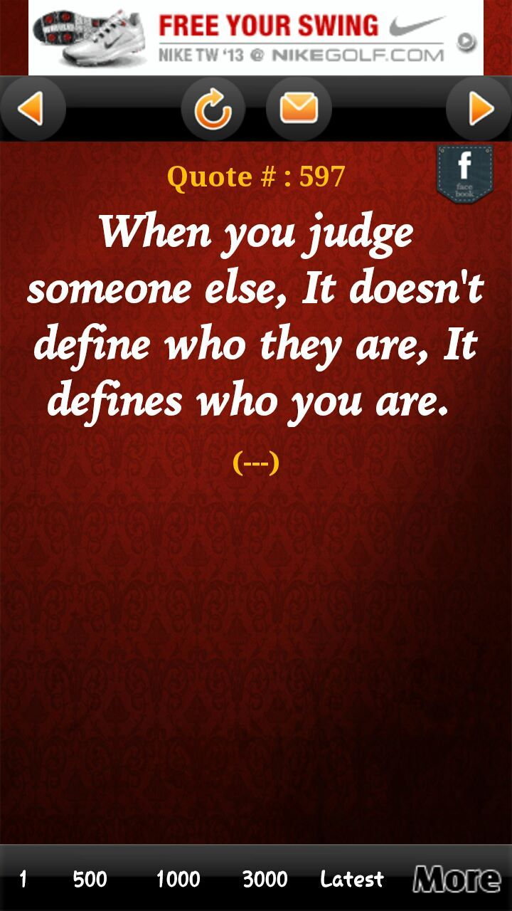 When You Judge Someone