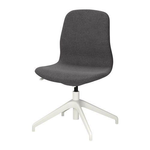 LÅNGFJÄLL swivel chair - Gunnared dark gray, white - IKEA