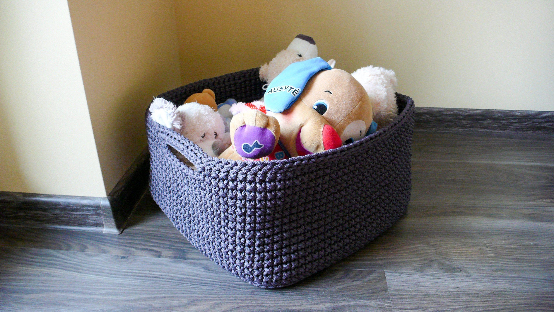 Square Toy Basket Baby Toy Storage Storage Basket Kids Toy Storage Crochet Storage Toy Basket Decorative Basket Bau De Ideias Ideias Bau