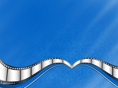 Blue Movie, Film Strip PPT Backgrounds | Border and Frames ...