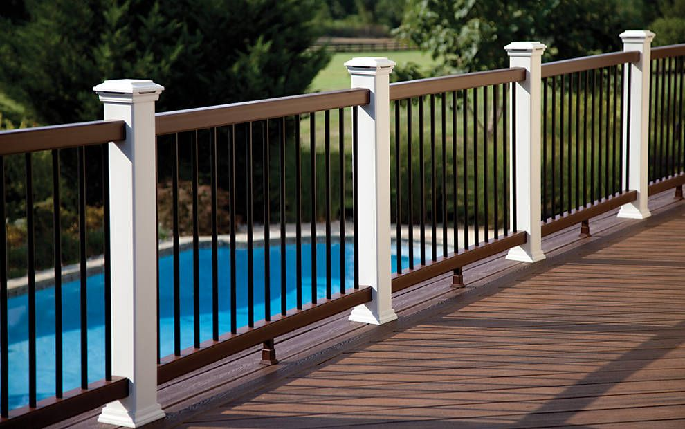 For An Incomparable View Try Trex Transcend Railing In Vintage Lantern And Clic White