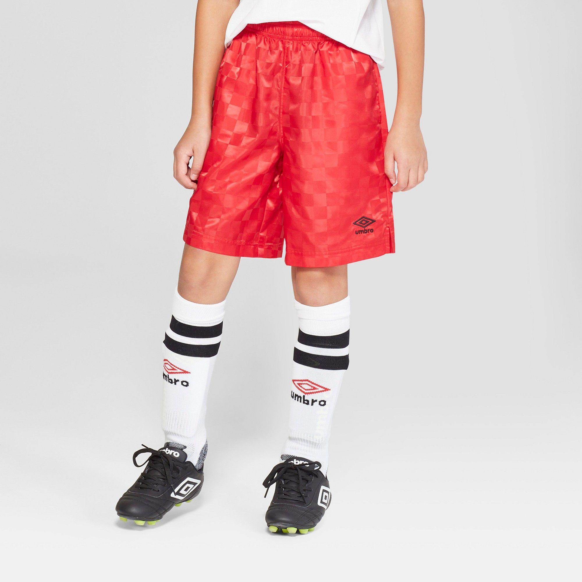 fccb1b52a Umbro Boys' Checkerboard Shorts - Red XS | Products | Soccer shorts ...