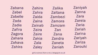 Girls names starting with Z   Z baby names, Baby girl ...