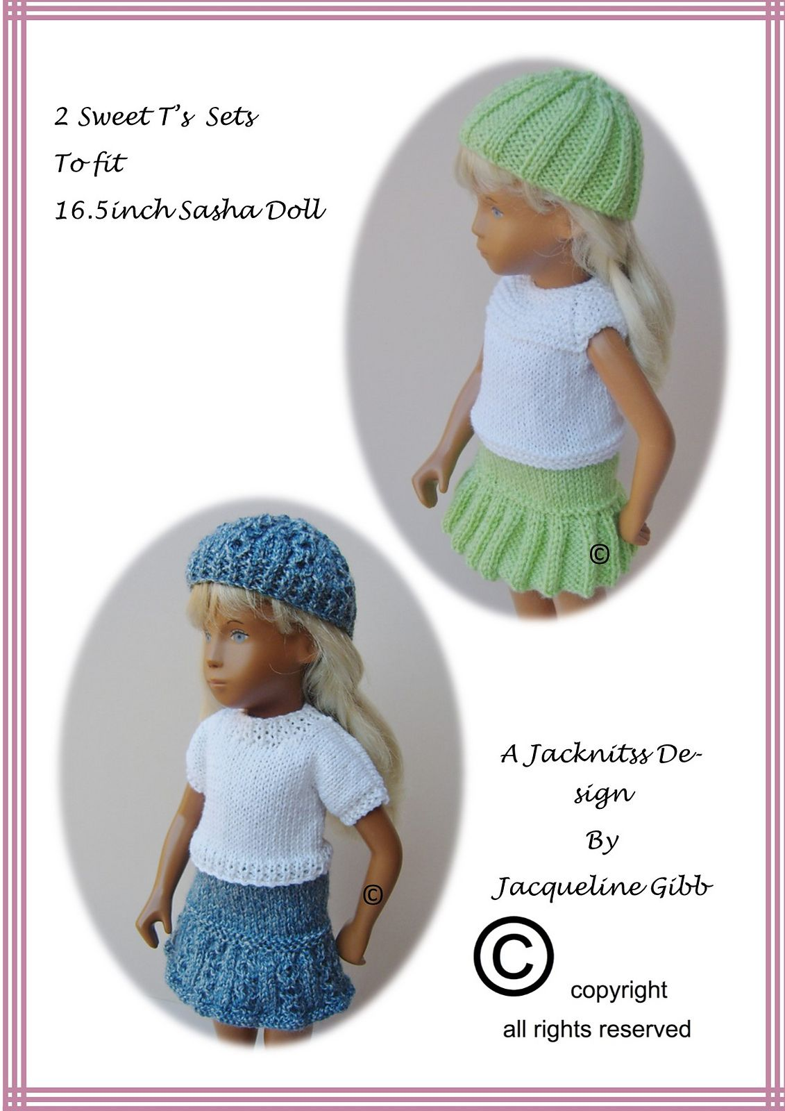 FREE Ravelry: S6 Sasha Doll Sweet T\'s Sets pattern by Jacqueline ...
