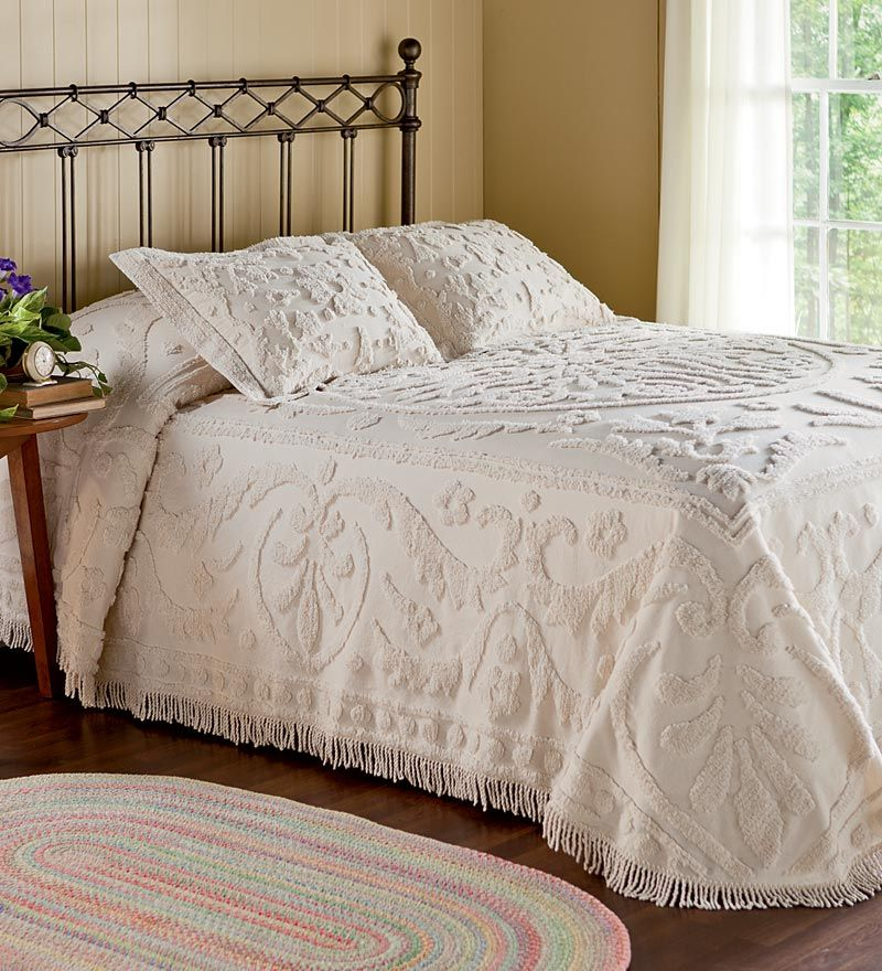 Cotton Chenille Garden Vine Bedspreads And Shams Plow Hearth