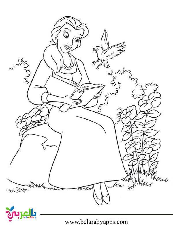 رسومات اميرات ديزني للتلوين صور تلوين بنات للطباعة بالعربي نتعلم Disney Coloring Pages Belle Coloring Pages Disney Princess Coloring Pages