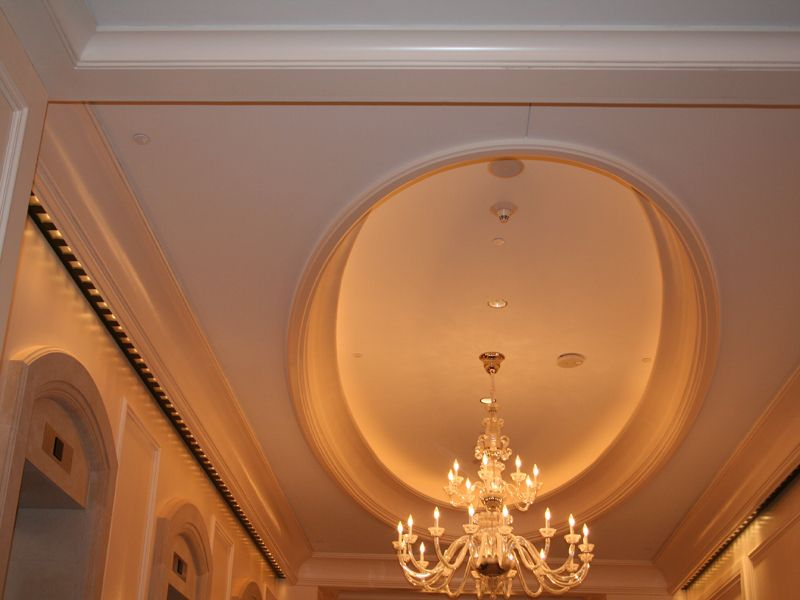 Recessed lighting crown molding : Grg molding radius crown with recessed lighting