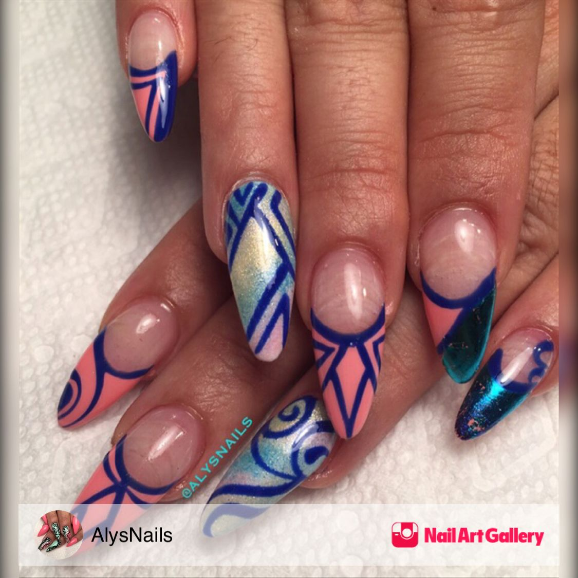 Pigments And Gels by AlysNails via Nail Art Gallery #nailartgallery ...