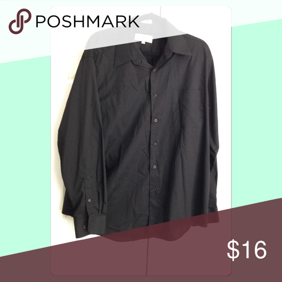{Quails} Black Dress Shirt Perfect condition, hardly ever worn. Neck size 17 1/2 and sleeve length is 34/35. Non-smoking and pet free home! Looking to only sell on Posh!! 💙 Quails Shirts Dress Shirts