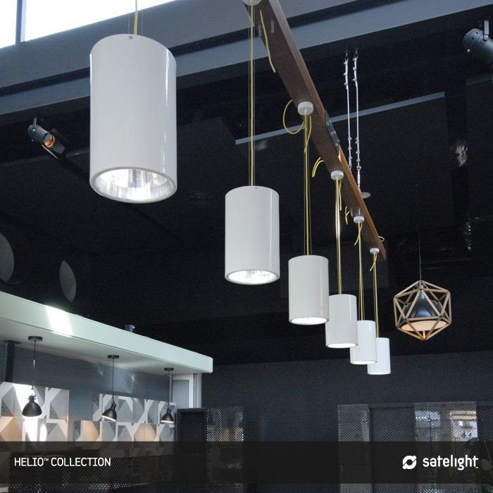 Helio Pendant Lighting Collection - Satelight - Cylindrical cans with silver coloured reflectors & Helio Pendant Light - Satelight - #pendants #lighting #lights ... azcodes.com