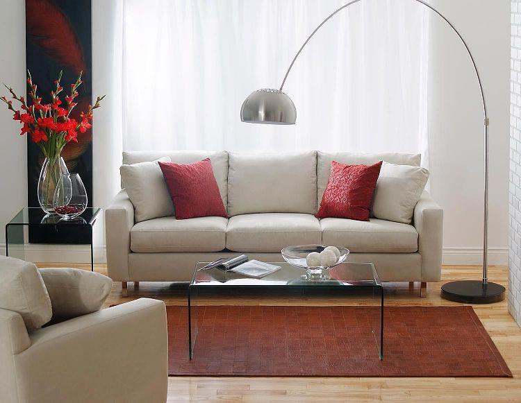 Structube lighting floor lamps arc black satin living room pinterest