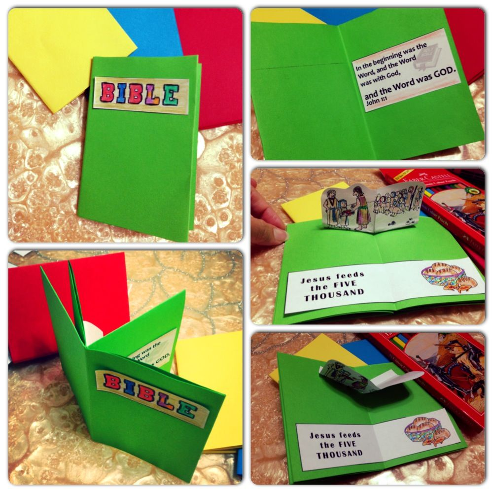 Mini Bible memory verse with pop-up kids craft | Sunday school kids ...