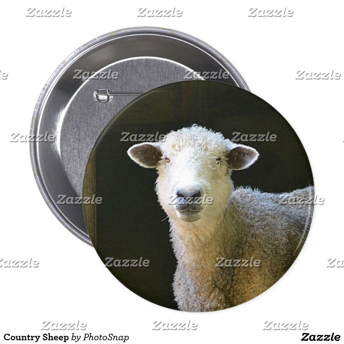 Country Sheep Button