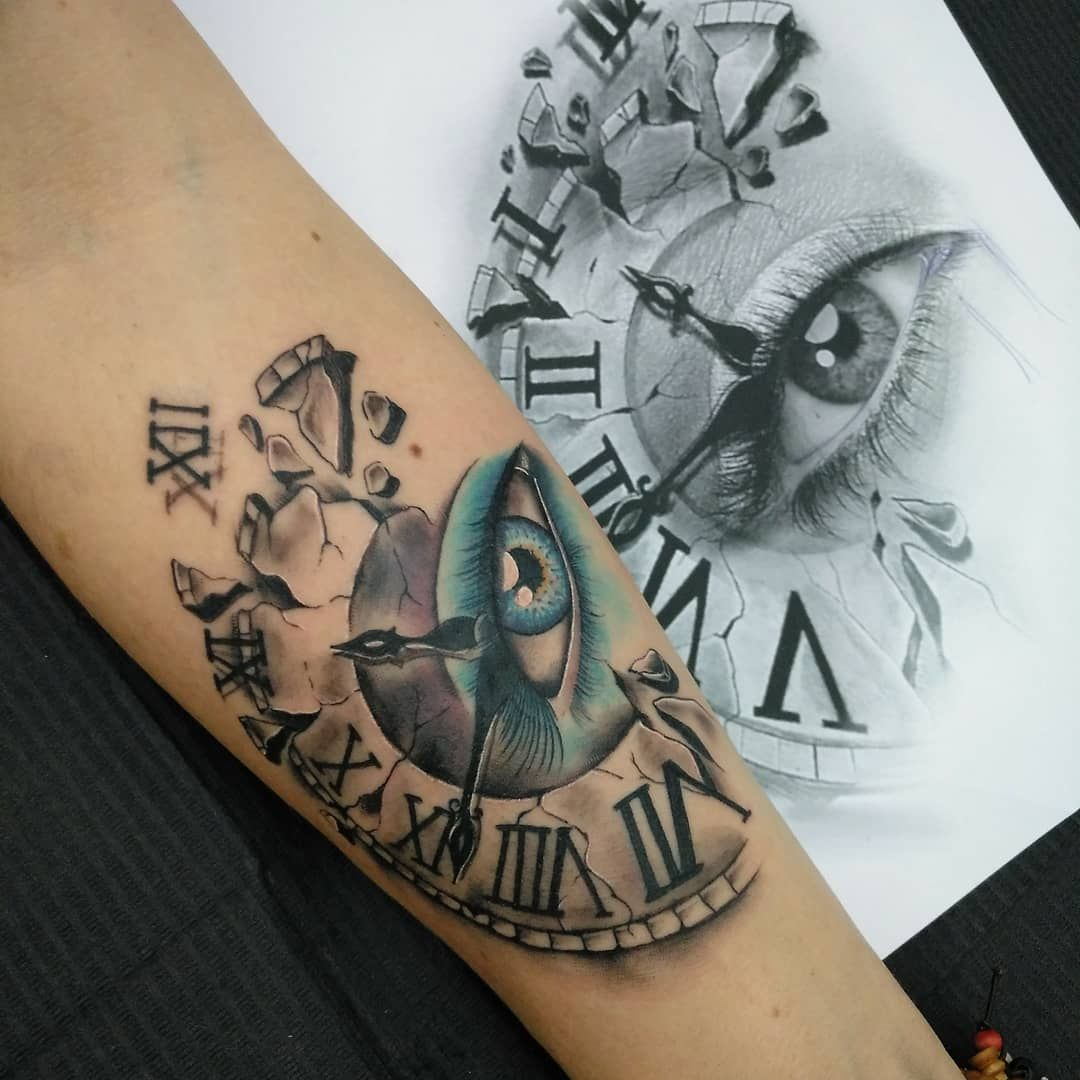 Abstract Eye Clock Tattoo Tattoo Designs Ideas And Meanings Clock Tattoo Tattoos Clock Tattoo Design