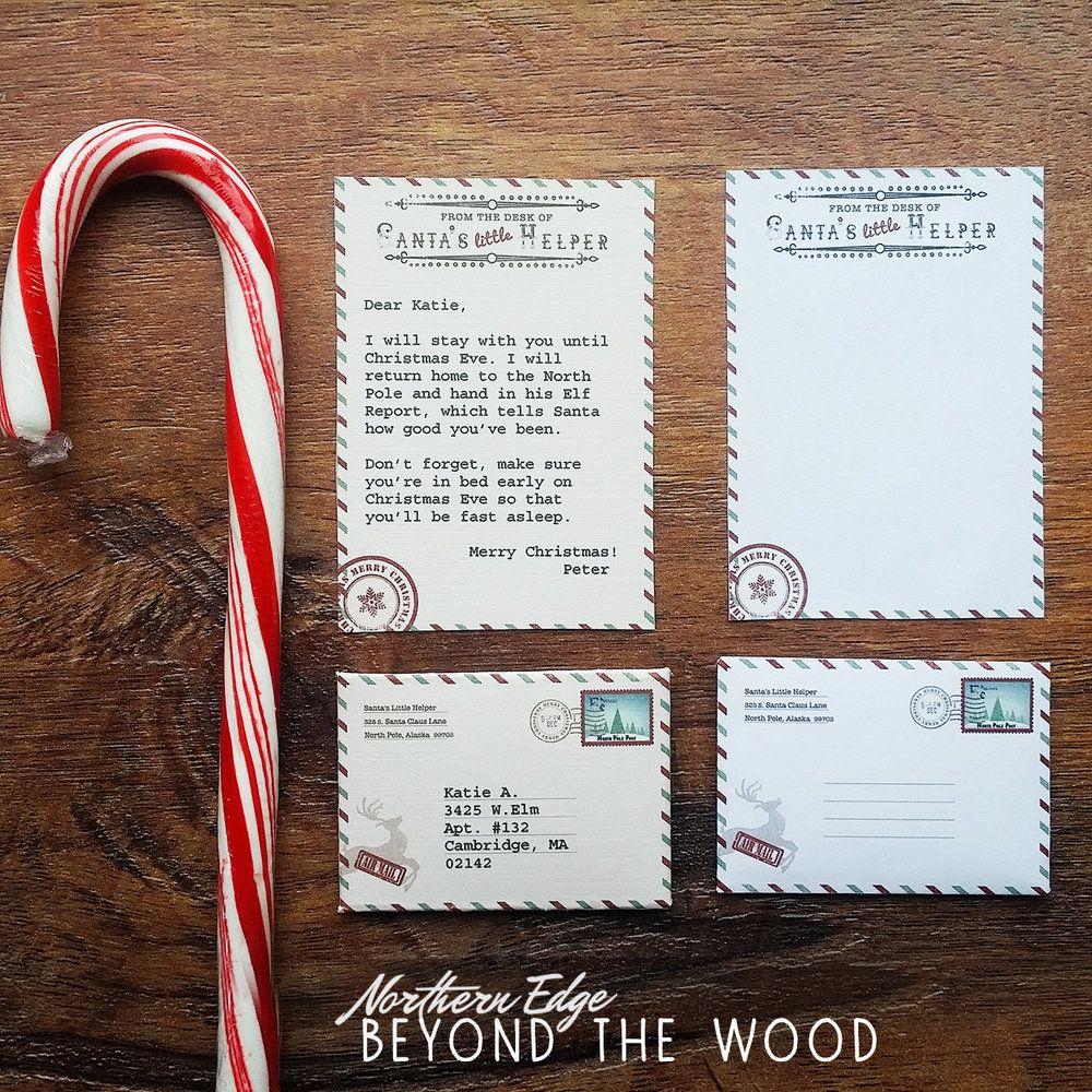Mini Elf Letter | Digital Download | Santa letter printable, Elves ...
