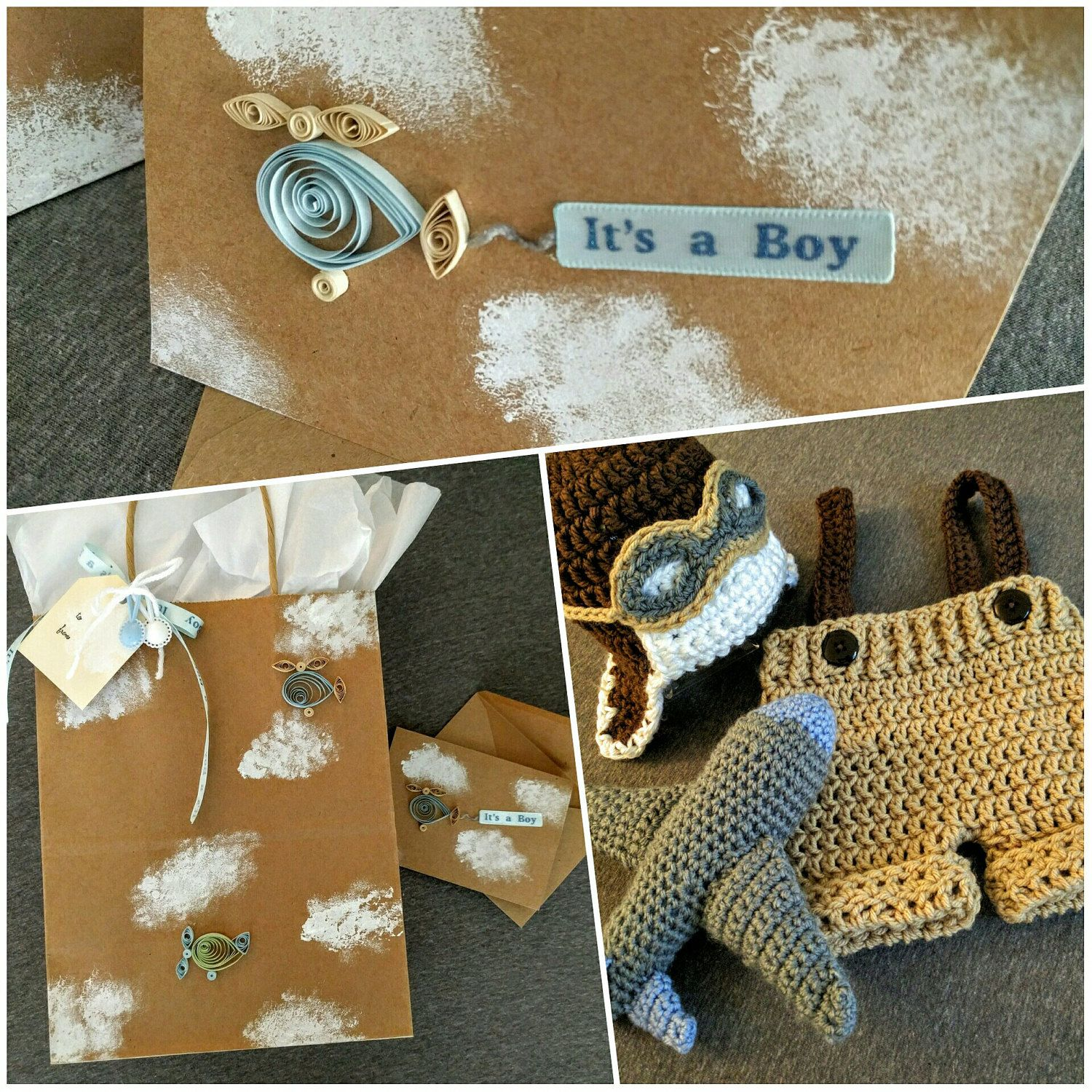 Love the planes! Baby boy gift set. Baby shower gift. Aviator photo ...