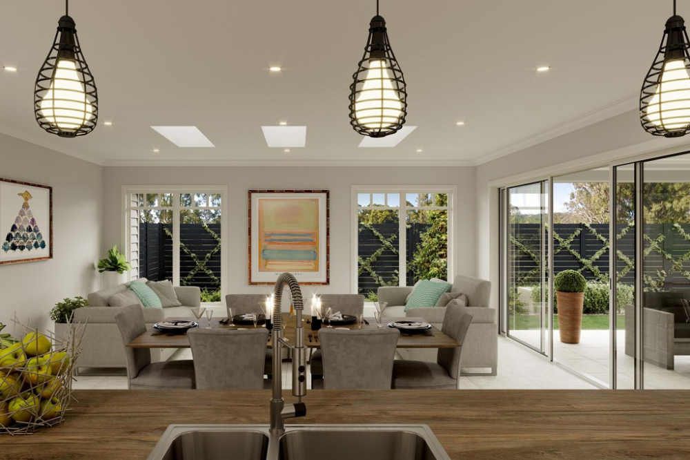 Open Plan Living Glenview Home Design In 2020 House Design Open Plan Living Custom Home Designs