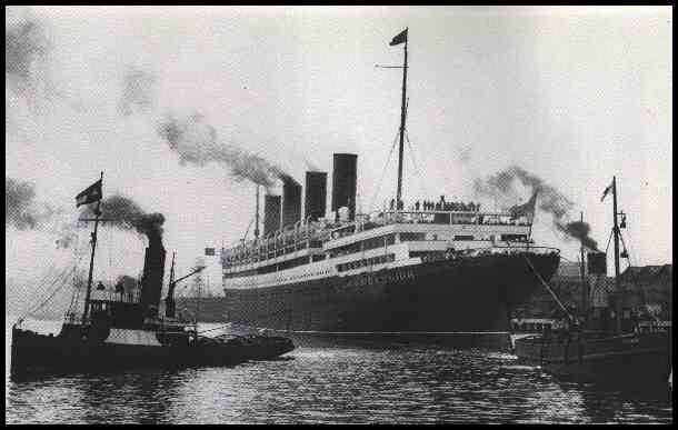the RMS Aquitania (1914 -1950) ocean liner, you can find the LC's Ville Savoye on the poop