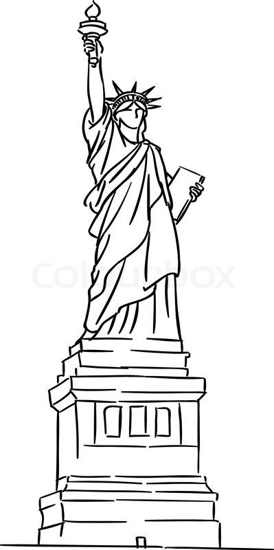 Statue of liberty drawing my hommie pinterest liberty for Statue of liberty drawing template