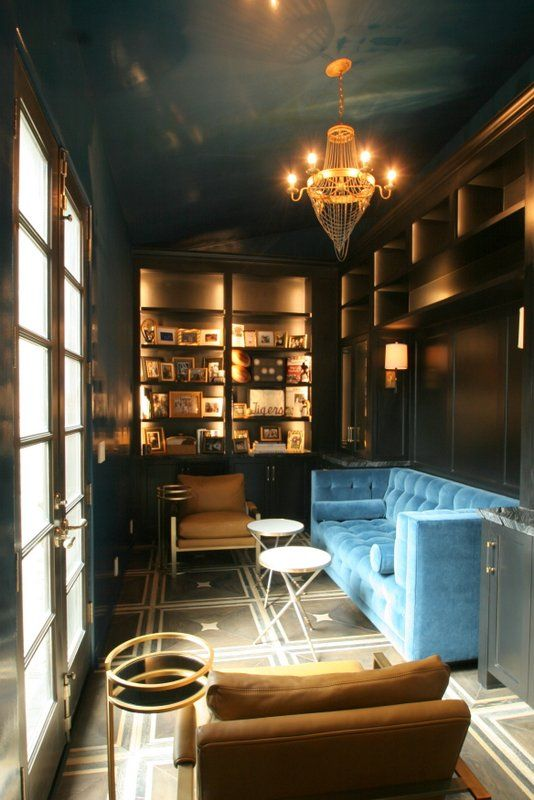 Genial Dark Blue Lacquered Walls U0026 Ceiling In High Gloss, By Paper Moon Painting, San  Antonio