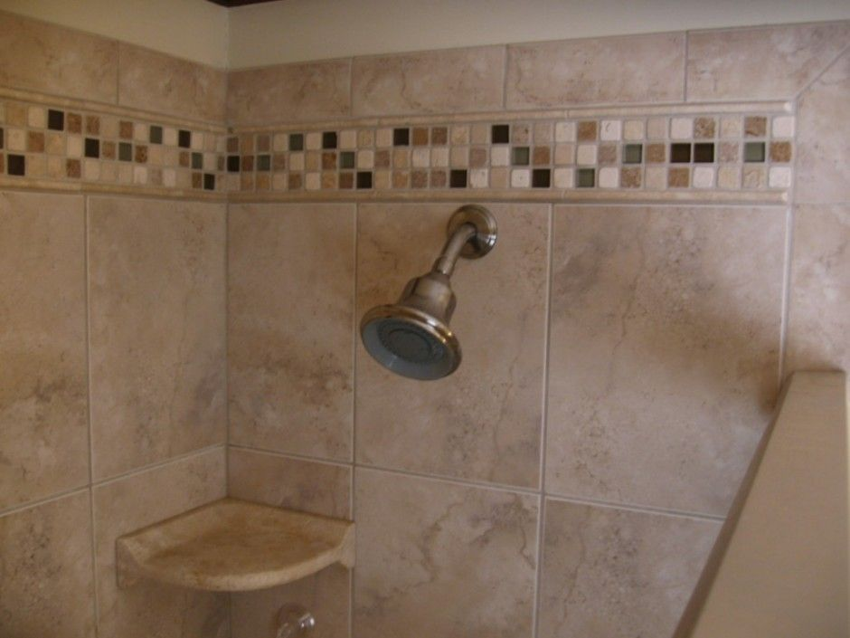 Wall Accent Simple Shower Wall Accent Tile Design Doorless