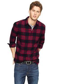 Buffalo plaid flannel shirt