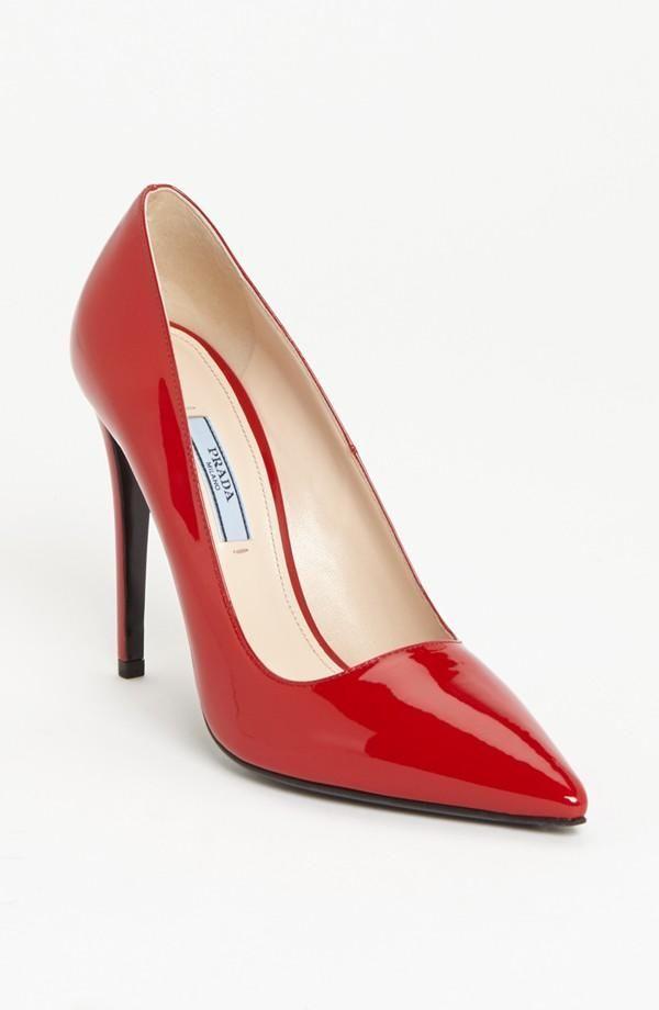 f083af9e0ff Sexy! Red pump by Prada