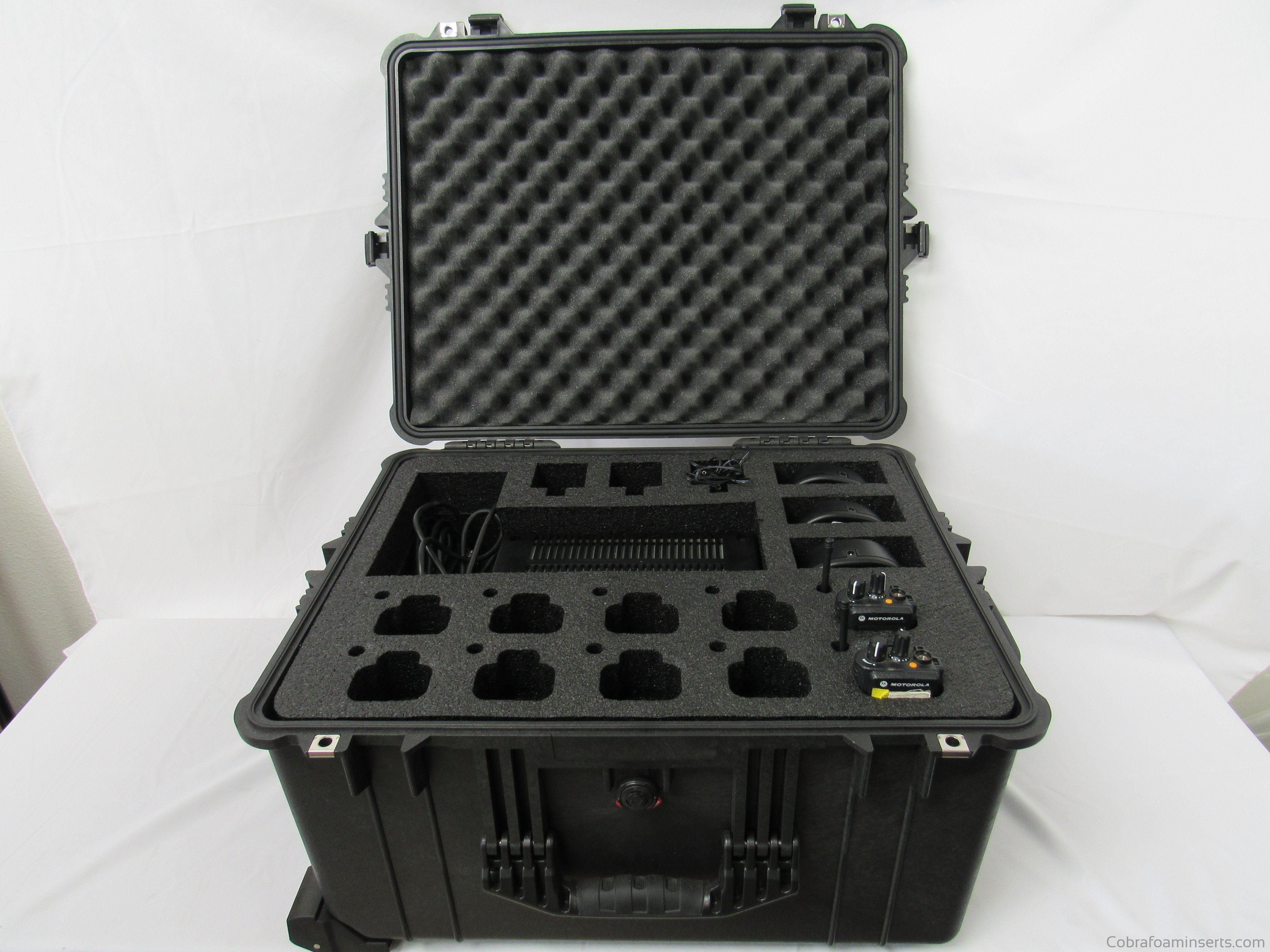 Pelican Case 1630 Foam Insert for Motorola XTS 5000 Walkie