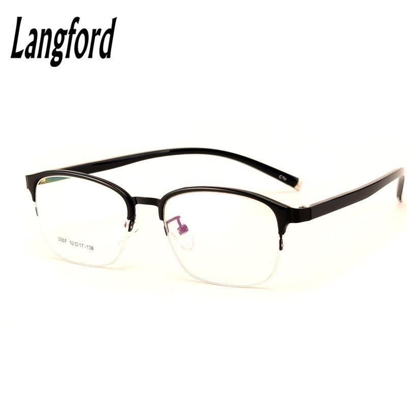 Vintage semi-rimless glasses Optical spectacles flexible light ...