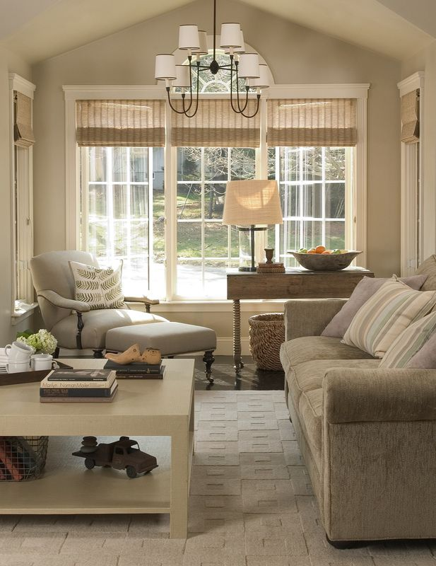 Adore the simplicity of these window treatments!