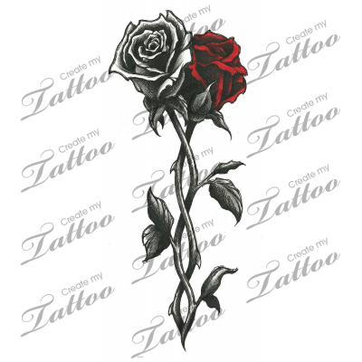 Marketplace Tattoo Intertwined Roses 12019 Rose Vine Tattoos White Rose Tattoos Rose Tattoos