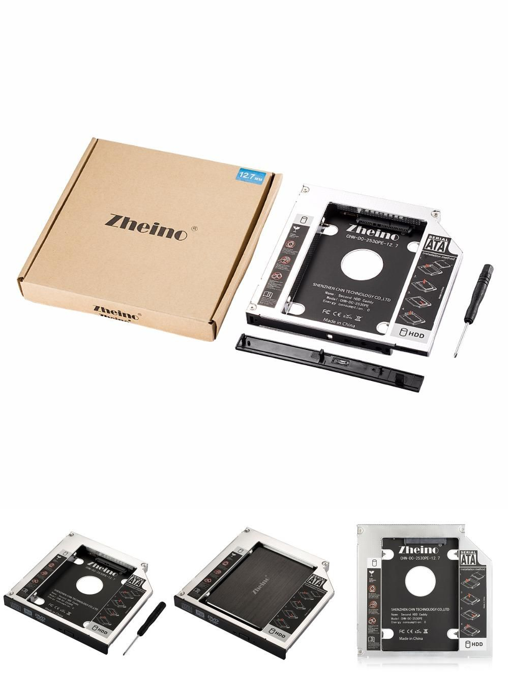 Visit to Buy] Zheino Aluminum 12 7mm 2nd HDD SSD Caddy 2 5