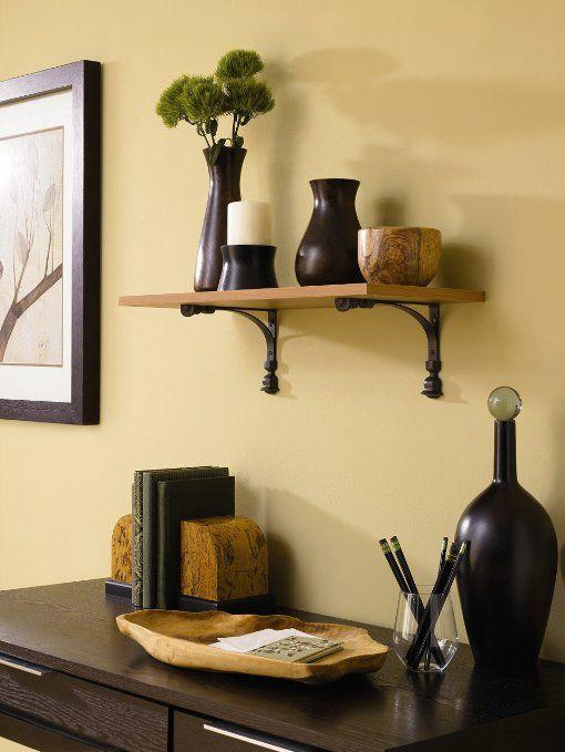 6 by 8-Inch Rubbermaid 1877656 Decorative Shelf Bracket Aris Black