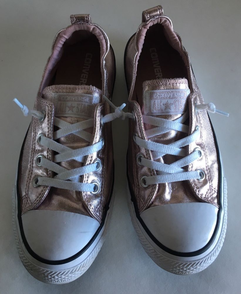5f1d33da7c1 Converse chuck taylor shoreline metallic rose quartz gold womens 9.5  Sneakers