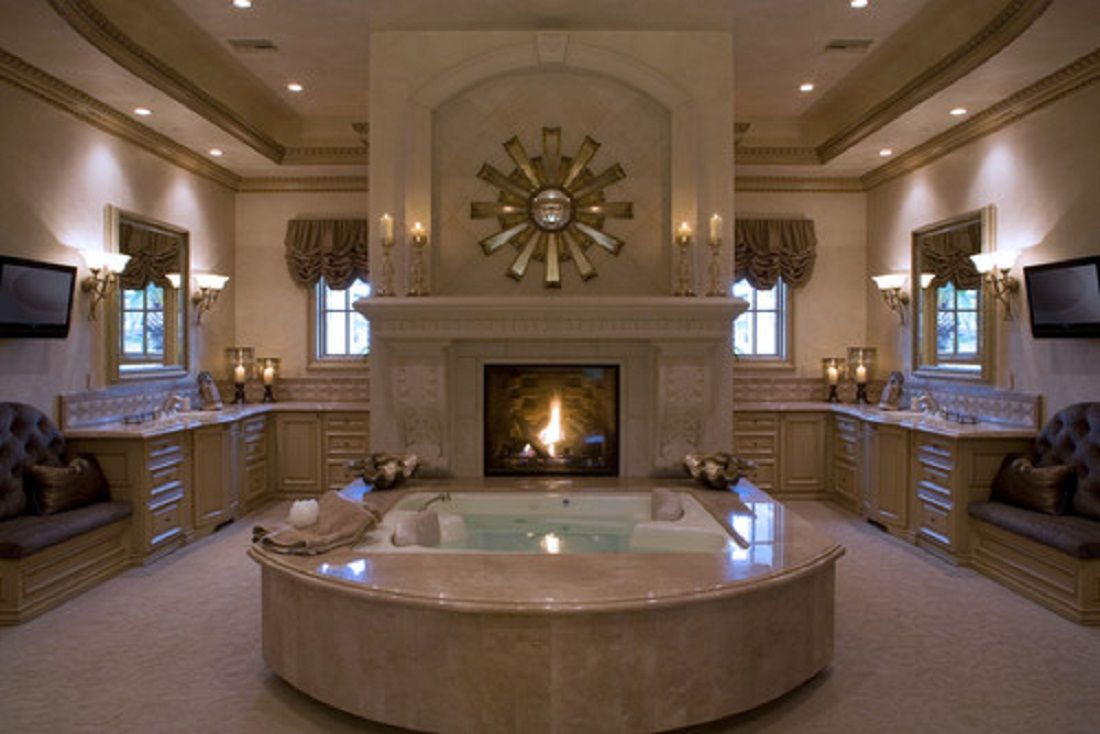 greatest luxury bathroom design ideas with fireplace and bathtub also ceiling hidden lamps interesting decorate luxury bathroom ideas pinterest luxury