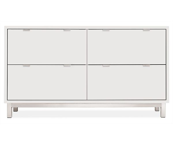 Room Board Copenhagen 57w 32h Four Drawer Lateral File