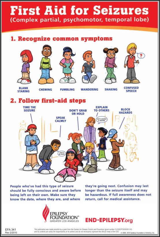 How to Help Someone Having A Seizure   First aid for kids ...
