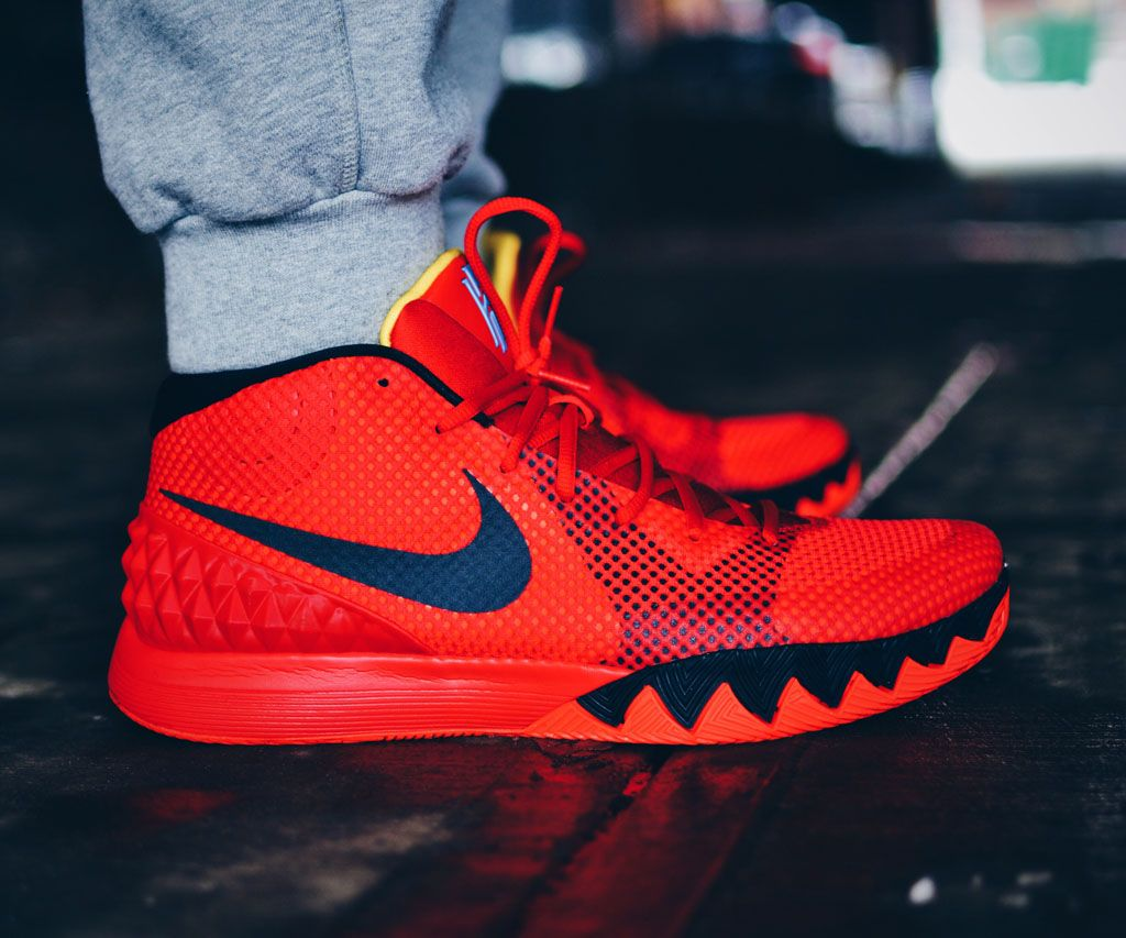 Jamrock84 in the 'Deceptive Red' Nike Kyrie 1
