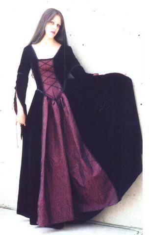 """The velvet and brocade """"Mid-Evil"""" dress"""